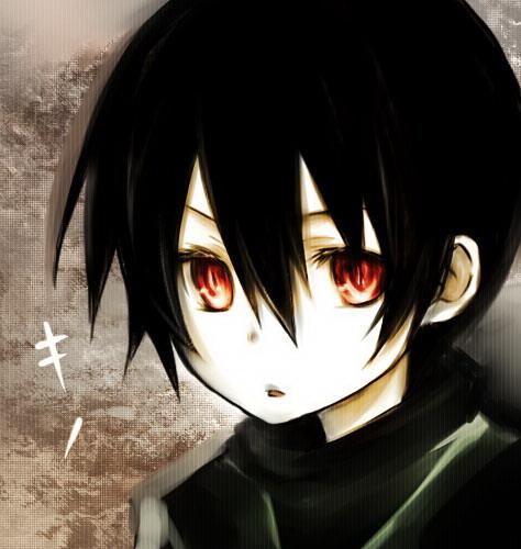 Black haired anime boy